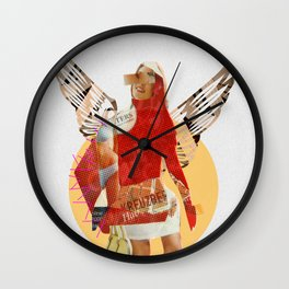 Build a Woman - Cut and Glue · Flying Farb Ina · White Version Wall Clock