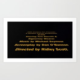 Alien cast & crew Art Print