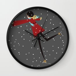 Ice Skate girl Wall Clock