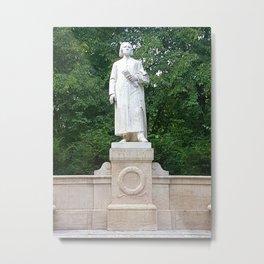 Franz Liszt Statue Metal Print