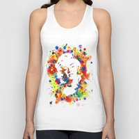 marylin monroe Tank Tops featuring Marylin Monroe by Psyca
