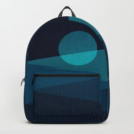 Abstraction_BLUE_MOON_NIGHT_Minimalism_001 Backpack