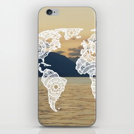 Lake View Map iPhone Skin