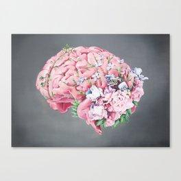 Floral Anatomy Brain Canvas Print