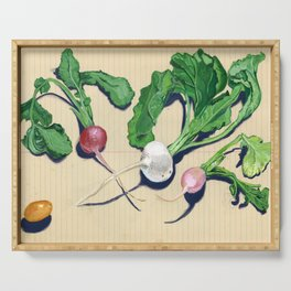 Easter Egg Radishes in Gouache Serving Tray