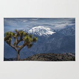 Joshua Tree at Keys View in Joshua Park National Park viewing the Little San Bernardino Mountains Rug