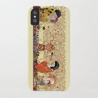 klimt iPhone & iPod Cases featuring Kokeshis Klimt by Pendientera