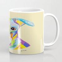 greyhound Mugs featuring Greyhound by EloiseArt