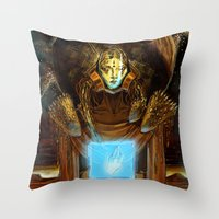 1984 Throw Pillows featuring 1984  by Cassandra Siemon C.M. Laserfield