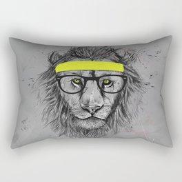 hipster lion Rectangular Pillow