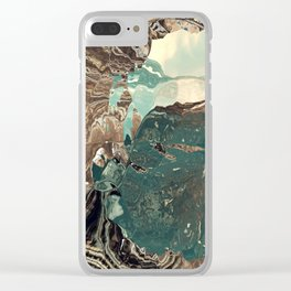 Gateway to something brighter Clear iPhone Case