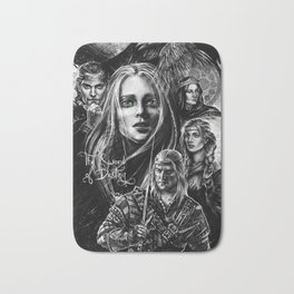 Sword of Destiny Witcher characters collage Bath Mat