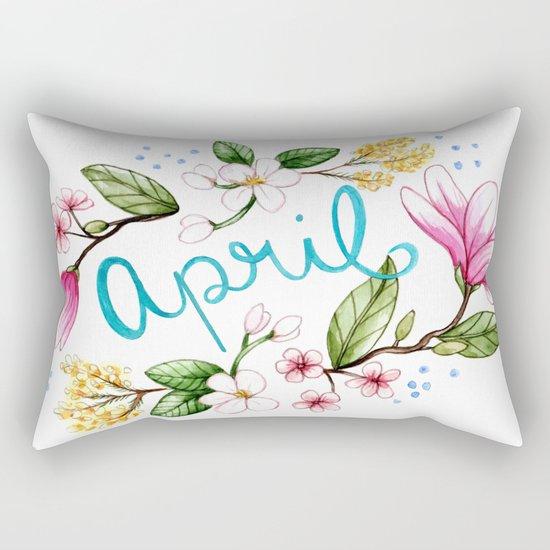 April Flowers Rectangular Pillow