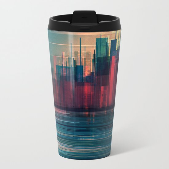 Red Wall Metal Travel Mug