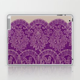 lace border stretched in purple Laptop & iPad Skin