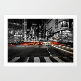 Shibuya Blur Art Print