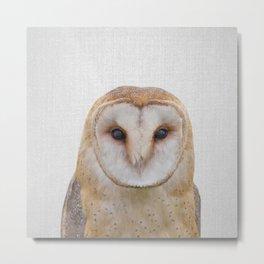 Owl - Colorful Metal Print