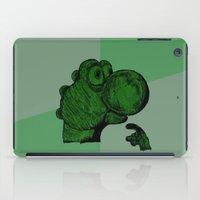 yoshi iPad Cases featuring Philosoraptor Yoshi by Triple_S_Art