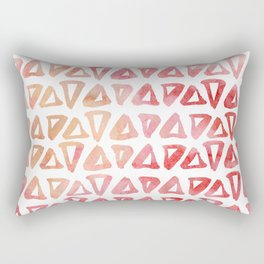 Pastel pink watercolor modern triangles shapes pattern Rectangular Pillow