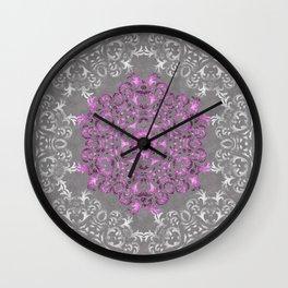 Mandala Pattern with Glitters II Wall Clock