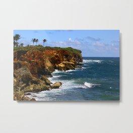 Poipu Cliffs, Kauai, HI Metal Print