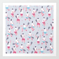 tennis Art Prints featuring Tennis by Sara Maese