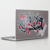 cherry blossoms Laptop & iPad Skins featuring Cherry Blossoms by Robin Curtiss