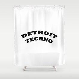 Detroit Techno Shower Curtain