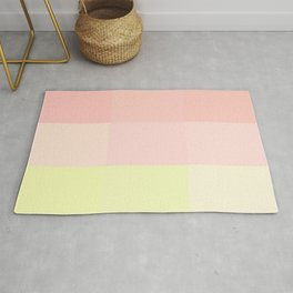 pink and yellow Rug
