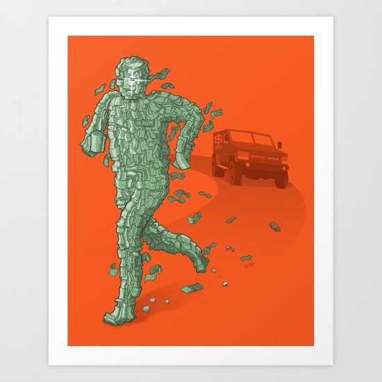 The Six Million Dollar Man Art Print