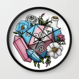 Pride Transgender D20 Tabletop RPG Gaming Dice Wall Clock