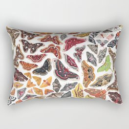 Saturniid Moths of North America Pattern Rectangular Pillow