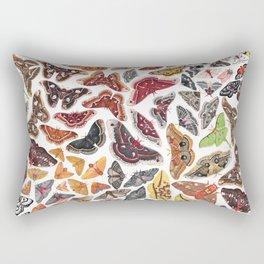 Saturniid Moths of North America Pattern Rectangular Pillow