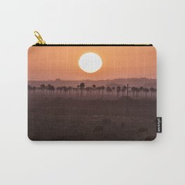 Sunset in the palm trees Carry-All Pouch