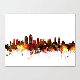 San Diego California Skyline Canvas Print