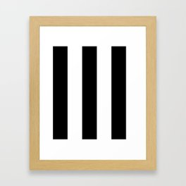 5th Avenue Stripe No. 2 in Black and White Onyx Framed Art Print