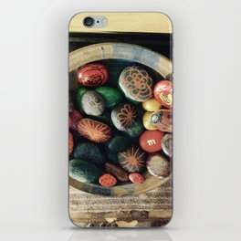 Rock art in ceramic bowl iPhone Skin
