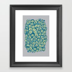 The Many Faces Of... Framed Art Print