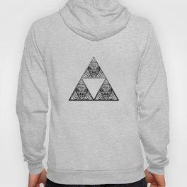 Triforce Aztec White Pattern Hoody