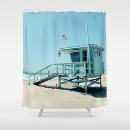 Rosecrans Tower in Manhattan Beach (El Porto) Shower Curtain