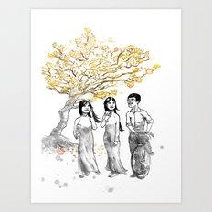 Ao Dai Art Print