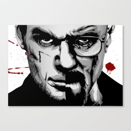 Dexter Morgan Vs Walter White Canvas Print