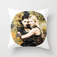 swan queen Throw Pillows featuring Swan Queen II by Geek World