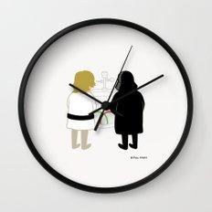 Saber Fight Wall Clock