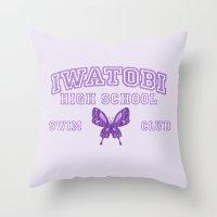 iwatobi Throw Pillows featuring Iwatobi - Betterfly by drawn4fans