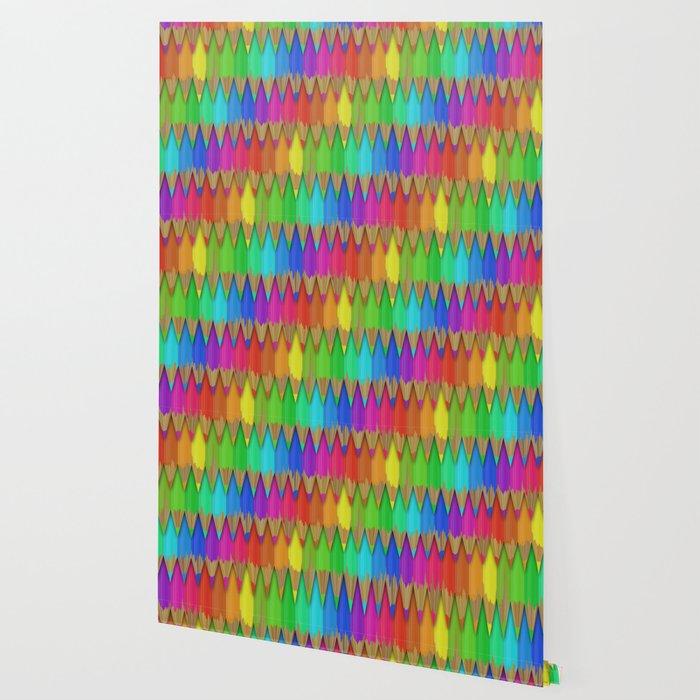 Melting Rainbow Pencils Wallpaper
