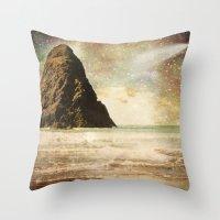interstellar Throw Pillows featuring Interstellar by Jenndalyn