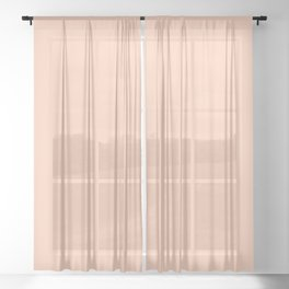Peach Warm Pink Sheer Curtain