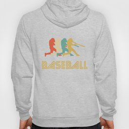 Baseball Batter Retro Pop Art Graphic Hoody