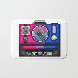 Bi Pride Pixel Camera Bath Mat